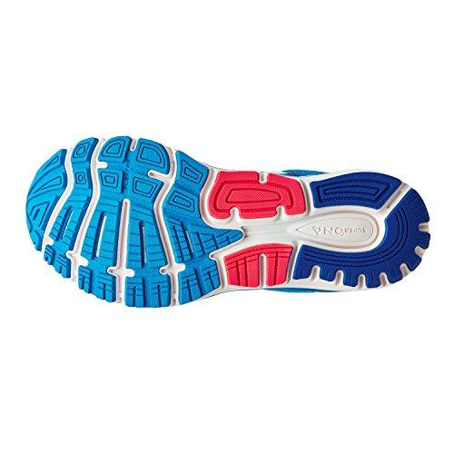 Brooks Womens Overstijgen 5 Loopschoenen Multi-gekleurde (blauw / Roze / Wit)