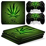MODFREAKZ™ Console and Controller Vinyl Skin Set - 420 Weed Smoke for PS4 Pro