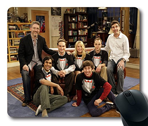 Custom TV Mouse Pad with penny sheldon leonard howard the big bang theory costumes Non-Slip Neoprene Rubber Standard Size 9 Inch(220mm) X 7 Inch(180mm) X 1/8 Inch(3mm) Desktop Mousepad Laptop Mousepads Comfortable Computer Mouse