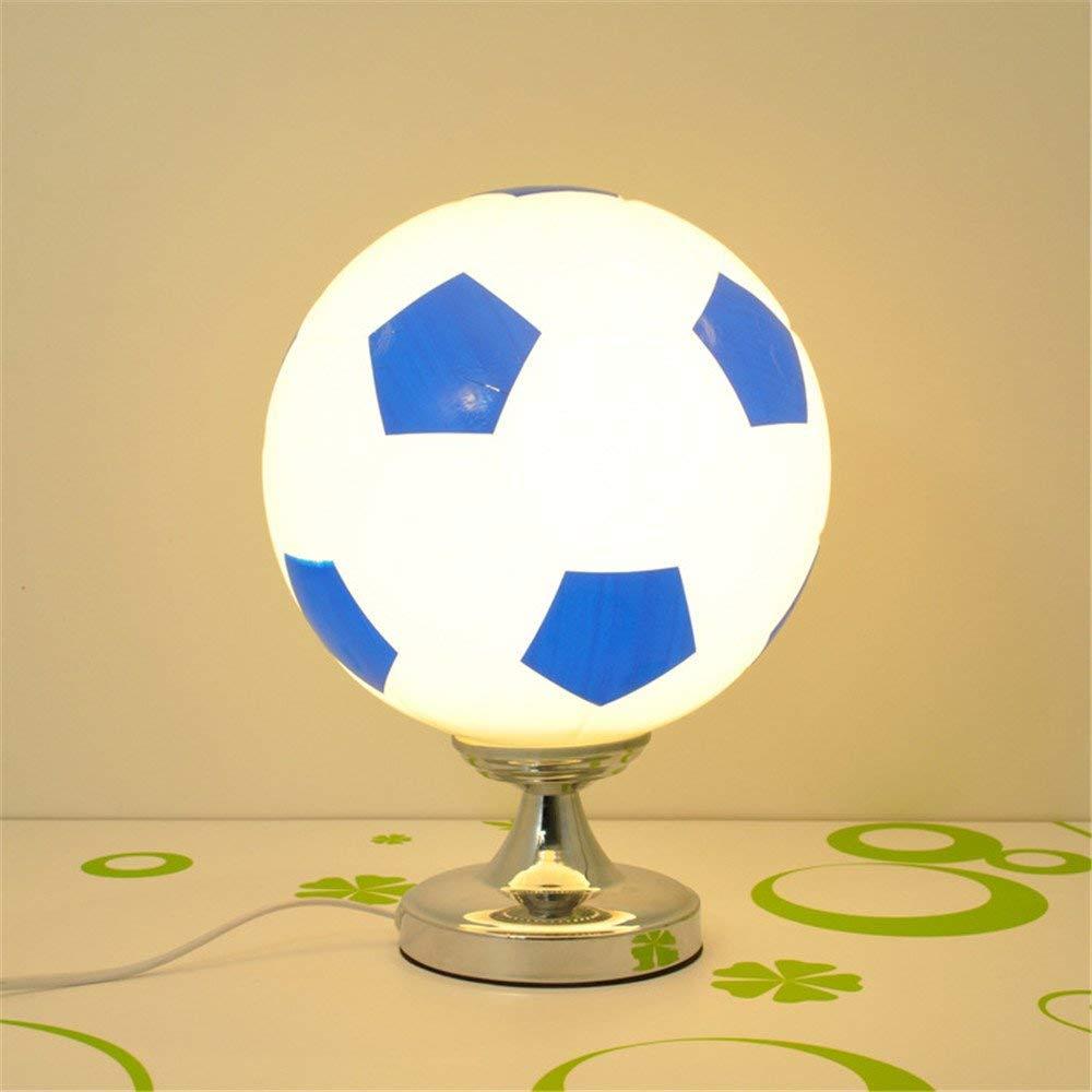 venta con alto descuento Hai Ying  ® Fútbol Lámparas Lámparas Lámparas de Escritorio Regulable Lámpara de Mesa de fútbol Creativa Moderna para el Dormitorio de la Sala de Estar Dormitorio Estudio Azul y blancoo 110V-240V  el precio más bajo