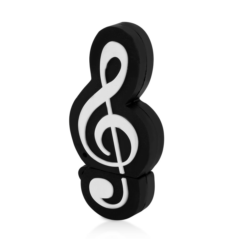 CHUYI Novelty Music Note Shape 32GB USB 2.0 Flash Drive Date Storage Pen Drive Memory Stick Pendrive Thumb Drive U Disk Gift (Black) by CHUYI (Image #5)