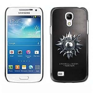 Unbowed Unbent Unbroken - Metal de aluminio y de plástico duro Caja del teléfono - Negro SAMSUNG Galaxy S4 mini VERSION! / i9190 / i9192
