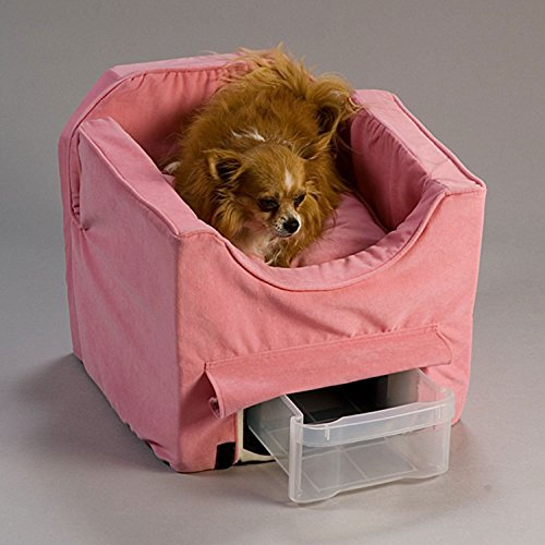 Snoozer Small Pink Luxury Lookout II Dog Car Seat by Snoozer