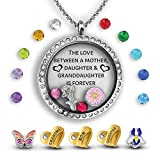 Three Generations Necklace Love Between A Mother, Daughter And Granddaughter Is Forever Locket Necklace | Grandma Gifts | Mom Necklace and Daughter Necklace | Granddaughter Gifts Charm Locket Necklace
