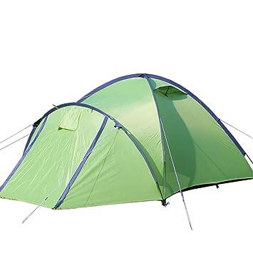 Tiendas Campaña para Acampar Al Aire Libre Campaña Campaña Plegable Campaña Doble Resistente A La Lluvia 3-4 Personas Gran Espacio Verde: Amazon.es: Deportes y aire libre