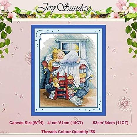 Ochoos Fairy Tale - Juego de punto de cruz, diseño de cuentos de hadas (11 piezas, 14 quilates): Amazon.es: Juguetes y juegos