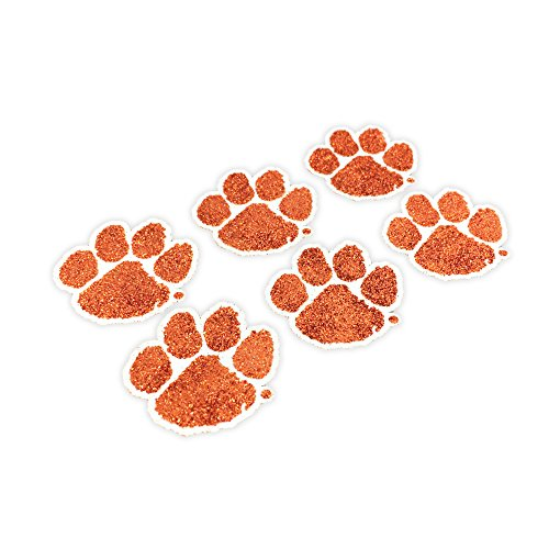 Tiger Paw Prints - EyeBlack Clemson Tigers NCAA Glitter Decals,