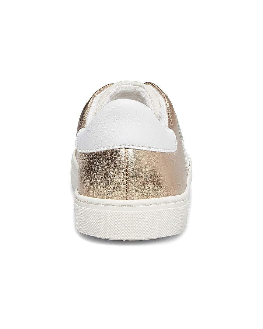 STEVEN by Steve Madden Ramsey Leather Sneaker 10 Gold Multi
