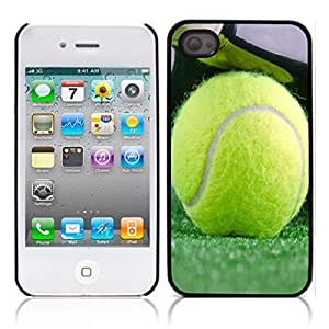 Tennis Ball Hard Plastic and Aluminum Back Case for Apple iphone 4 4S