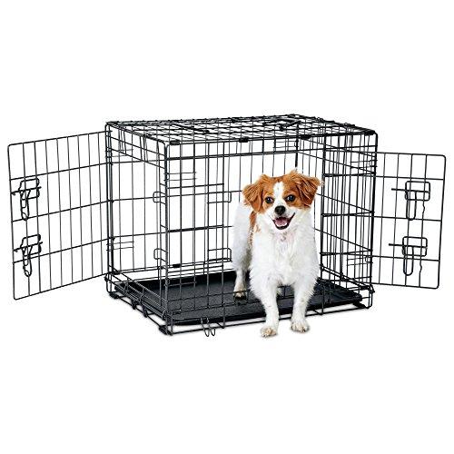 """Petco Premium 2-Door Dog Crate, 24"""" L x 18"""" W x 19"""" H, Small, Black"""