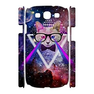 Galaxy Hipster Cat DIY 3D Cover Case for Samsung Galaxy S3 I9300,personalized phone case ygtg551646