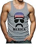 Tstars American Flag Cap Hat - Cool 4th of July Merica Singlet Small Gray