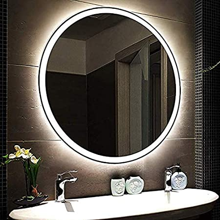 Miroir LED Ronde Mural Lumineux Miroir Salle De Bains ...