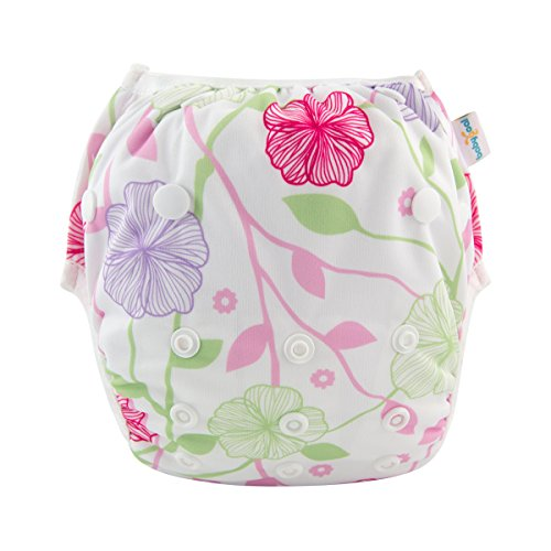 babygoal Baby Swim Diaper One Size Reusable Washable and Adjustable for Swimming fit 0-2 Years Babies FSW15