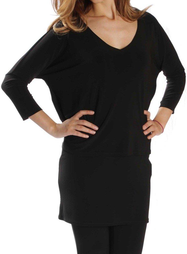 Joseph Ribkoff Black Multi Layer Tunic Top Style 171056 - Size 8 by Joseph Ribkoff