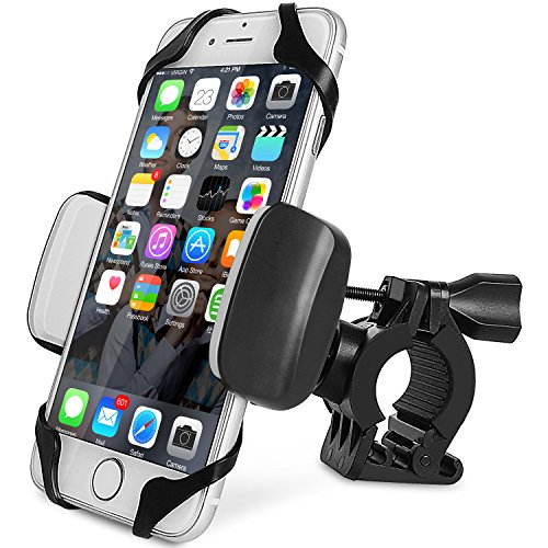 Motor Adjustment Clamp (Bike Phone Mount Motorcycle Holder, Universal Cell Phone Bicycle Handlebar Cradle Holder, Adjustable 360 Rotate for iphone 6s/6plus, 7/7plus, Samsung Galaxy or any Smartphone & GPS (black))