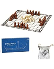 Hnefatafl - The Viking Game - Includes Uniquely Designed Cotton Drawstring Pouch/Bag for Playing Pieces