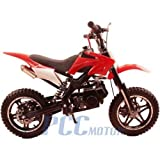 DB50X 48L KIDS 49CC 2 STROKE GAS MOTOR DIRT MINI POCKET BIKE (Red)