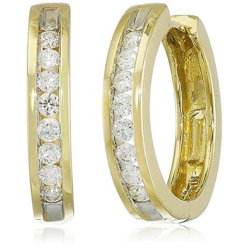 14 Karat Gold And Diamond Ring Amazon Com