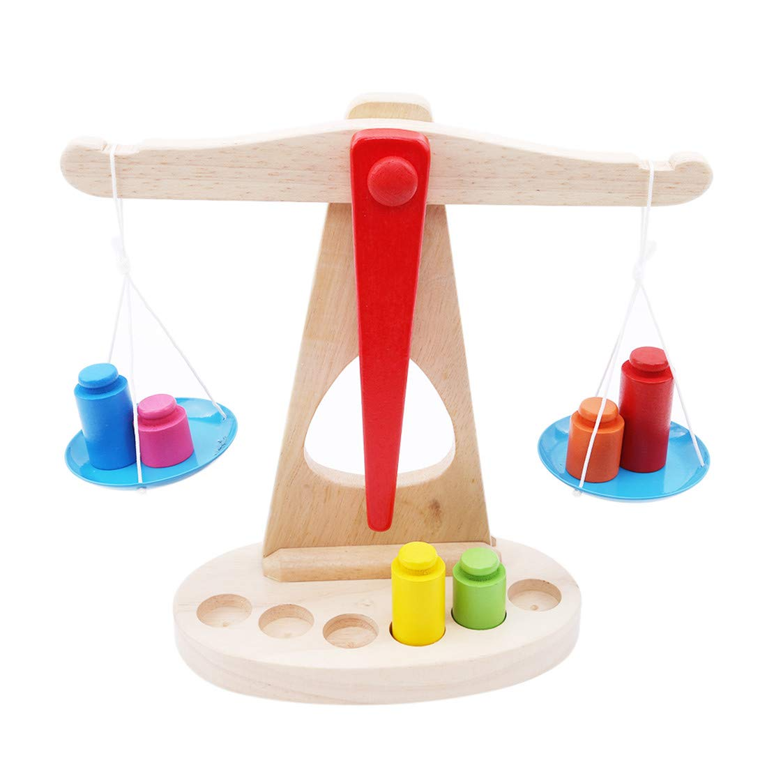 VWH Educational Baby Early Evelopment Scale Funny Balance Game Wooden Toy for Construction Engineering Creative Fun kit