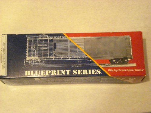 (HO Scale 50ft Welded AAR Box Car 1910 Atlantic Coast Line Car #31148 Blueprint Series Kit)