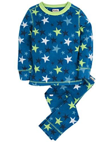 Hatley Little Boys' Thermal Ski Underwear Stars, Blue, 4