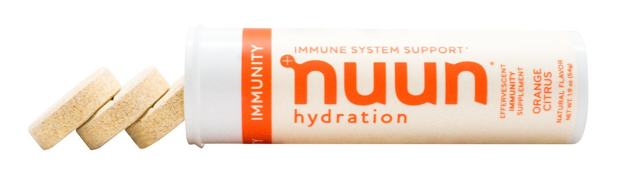Nuun Immunity: Zinc, Turmeric, Elderberry, Ginger, Echinacea, and Electrolytes for an Anti-Inflammatory and Antioxidant Boost in Immune Support and Hydration, Orange Citrus 8-Pack by Nuun (Image #6)