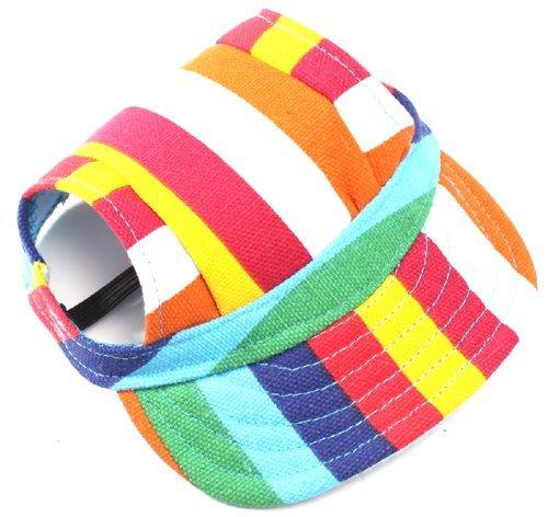Vivi Bear 작은 크기의 강아지 챙 디자인 패션 개 야구 태양 모자 스포츠 모자를 위한 애완견 모자 귀 구멍에 턱 스트랩. / Vivi Bear small size dog visor design fashion dog baseball sun hat for sports cap pet dog hat ear hole and chin str...