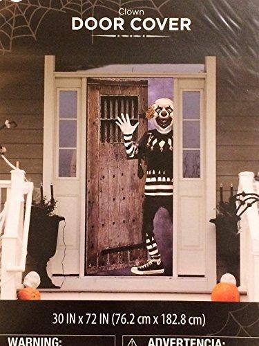 Halloween Scary Clown Door Cover - 30 x