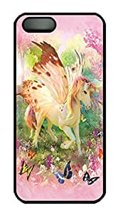 Covers Pegacorn Custom PC Hard Case Cover for iPhone 5/5S Black