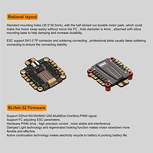 Wikiwand DALRC Rocket 50A 4 in 1 ESC Brushless 3-6S Blheli_32 LIHV DSHOT1200 for Drone by Wikiwand (Image #3)