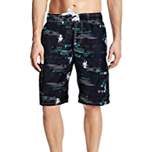APTRO Men's Quick Dry Swim Trunk Printed Palm Beach Swim Wear