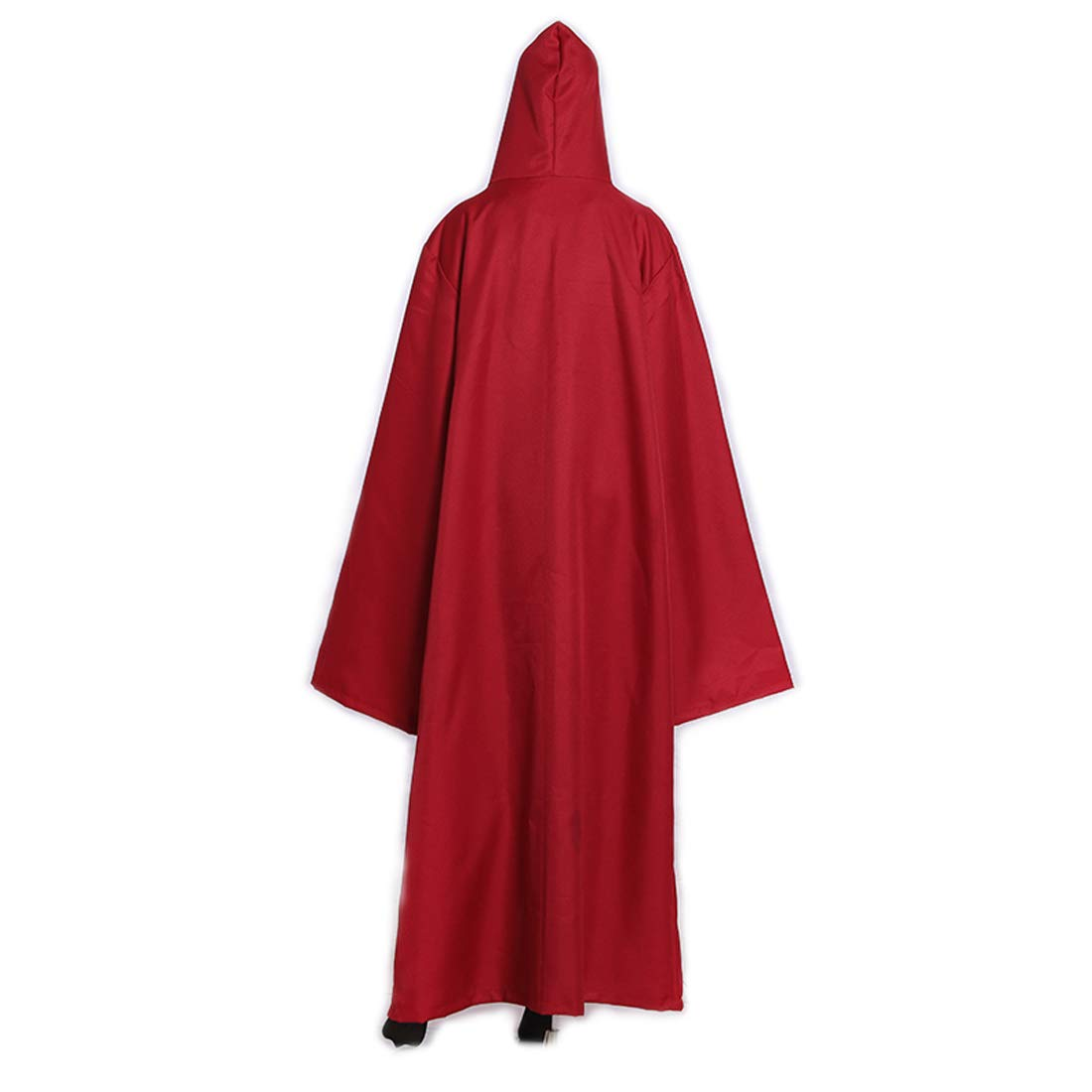 Wgior Men Tunic Hooded Robe Cloak Knight Fancy Cool Halloween Cosplay Costume (L, Red) by Wgior (Image #2)