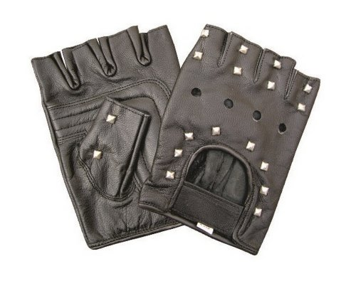 Unise (Adult Short Fingerless Black Gloves)