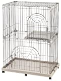 IRIS 2-Tier Wire Pet Cage, Gray