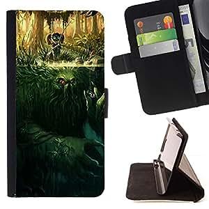 Momo Phone Case / Flip Funda de Cuero Case Cover - Monstruo de la historieta Misterio Carácter - LG G2 D800