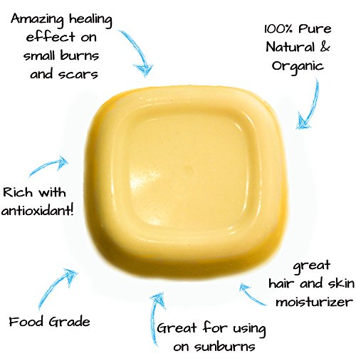 Organic Cocoa Butter 1 lb Bar Unrefined Food Grade & Edible Non-Deodorized Pure Raw Rich In Antioxidants Great For Chocolates, DIY Recipes Lip Balms Lotions Creams Stretch Marks By Mary Tylor Naturals