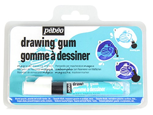 Pebeo Magic! Drawing Gum Marker for Kids, Masking Fluid, 4 mm (Drawing Pebeo)
