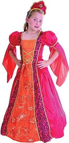 Elizabethan Outfit (Large Pink Girls Deluxe Princess Costume)