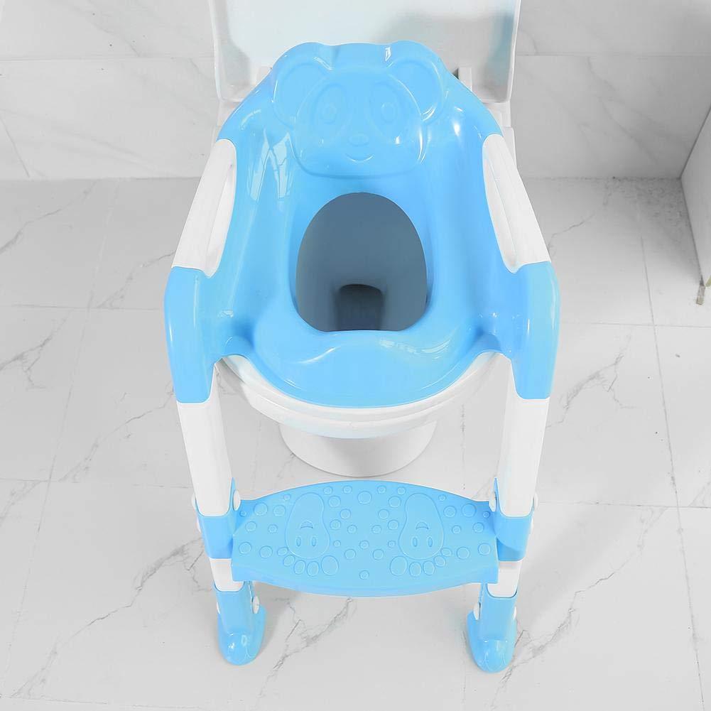 Leiter f/ür Kleinkinder verstellbar tragbar faltbar Kinder-Sicherheits-Toilettentrainingssitz f/ür Babys SOULONG T/öpfchentrainings-Toilettensitz 55 x 36 x 40 cm Toiletten-Trainer