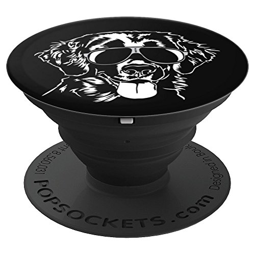 Funny Proud Flat Coated Retriever dog lover breed gift - PopSockets Grip and Stand for Phones and Tablets ()