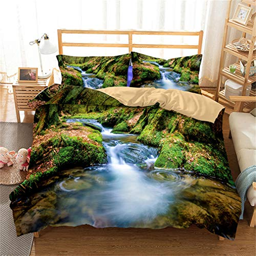 Mandarin Duck 3D Bedding Set Lifelike Bedclothes with Pillowcase Bed Set Home Textiles 9 UK Double
