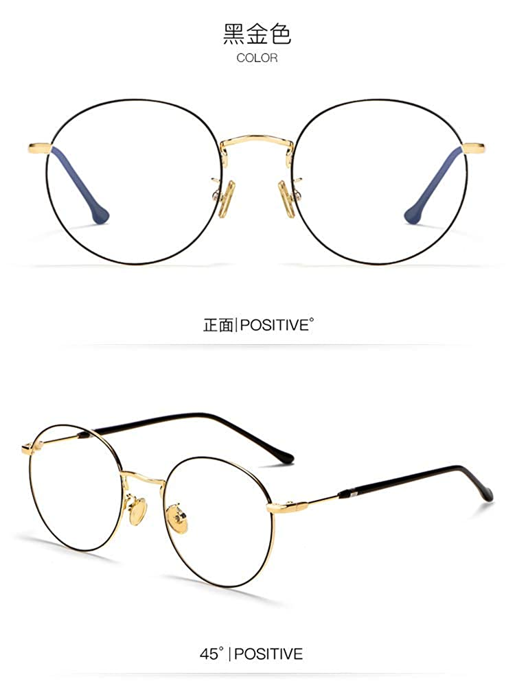 Retro round frame/ / / full frame radiation-proof blue mobile phone eye protection black gold