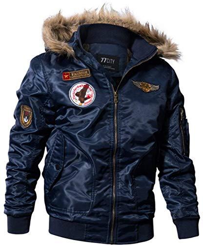 Sleeve Down Manteau Matelassé Blau Chic Pour Outdoor Long Coat Classic Mode D'hiver En Vestes Hommes Coton Retro Jacket Trench 4zXn0wwq