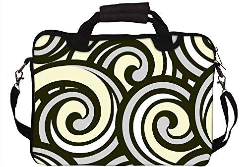 Snoogg abstrakten multicolor Waves 30,5cm 30,7cm 31,8cm Zoll Laptop Notebook Computer Schultertasche Messenger-Tasche Griff Tasche mit weichem Tragegriff abnehmbarer Schultergurt für Laptop Tablet