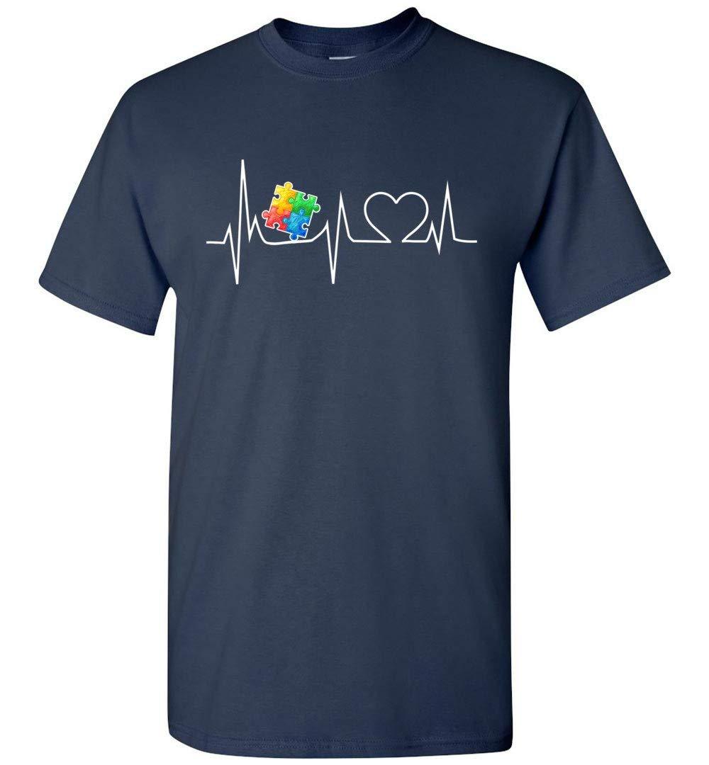 Autism Puzzle Heartbeat Tshirt Autism Awareness Shirts 5314