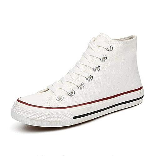 Mujer Alta 005 Zapatillas Deporte Color De Blanco Lona Xbb 6IyY7gvbf