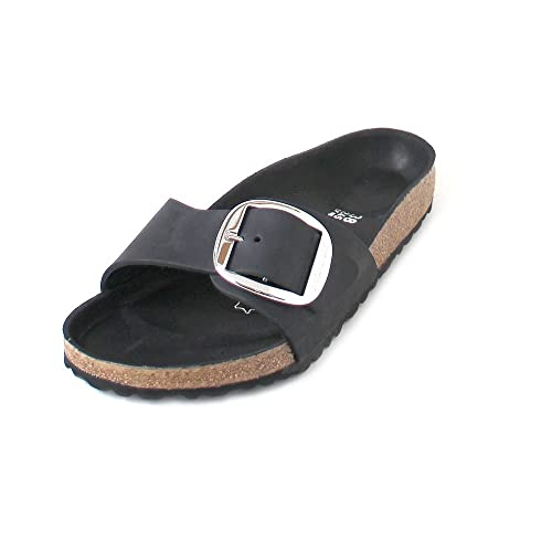 30323ce0e9e Birkenstock Madrid Big Buckle Regular Fit - Black 1006522 (Leather) Womens  Sandals 41 EU  Amazon.co.uk  Shoes   Bags