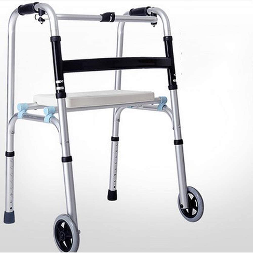 Elderly Walker, with Wheel and Seated Walker, The Elderly Hand-Held Car Can Push The Walker