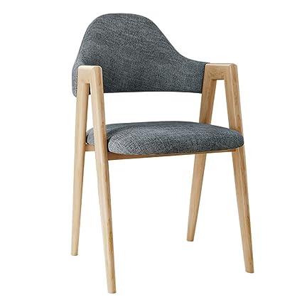Amazon.com: Silla de comedor minimalista moderna, taburete ...